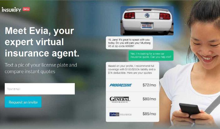 Evia, agente virtual de seguros creado por Insurify