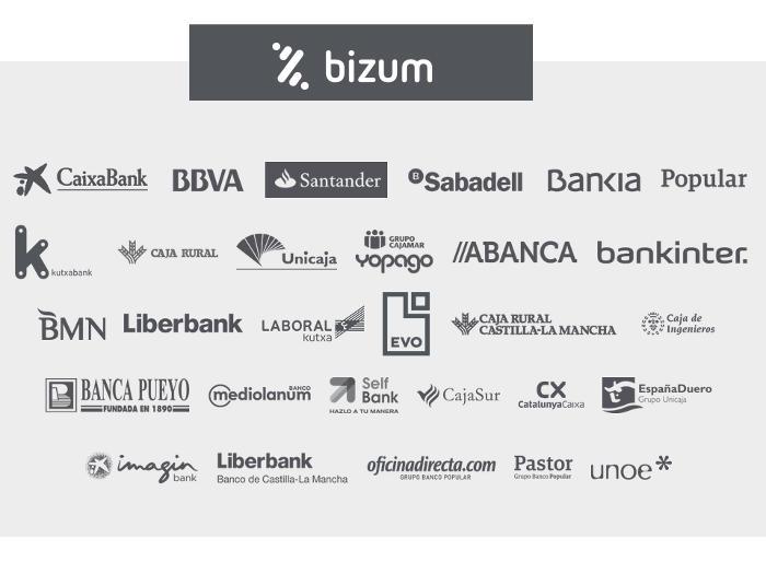 Entidades bancarias que forman parte de Bizum