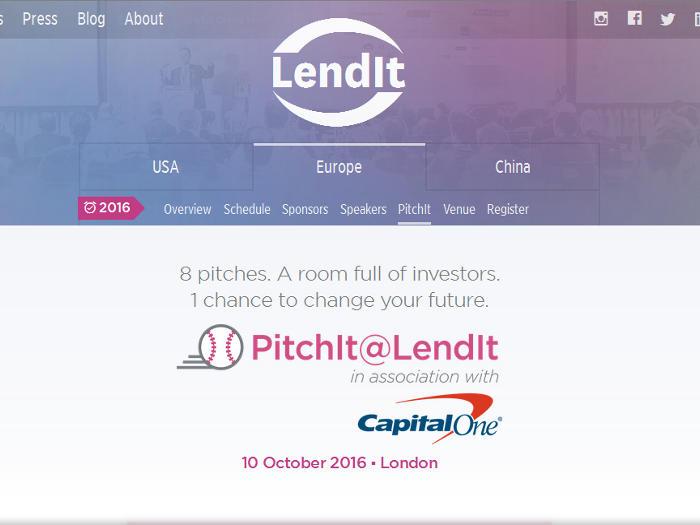 PichIt@LendIt, nueva competición para startups fintech organizada por LendIt y Capital One
