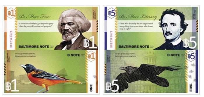 BNote, moneda social complementaria al dólar en Baltimor, EE.UU.