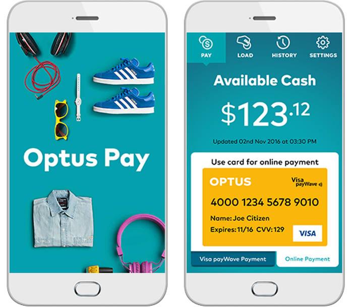 Aplicación para móviles Optus Pay
