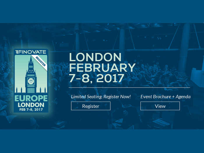 Finovate Europe 2017: Gran evento Fintech en Londres en febrero