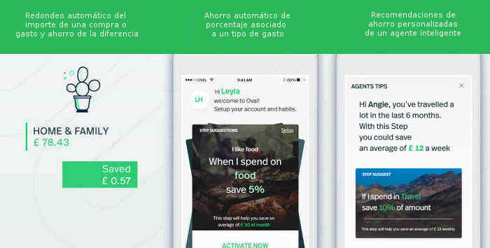 Capturas de pantalla de la app Oval Money