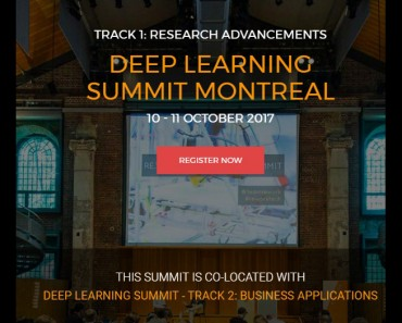 Deep Learning Summit Montreal 2017