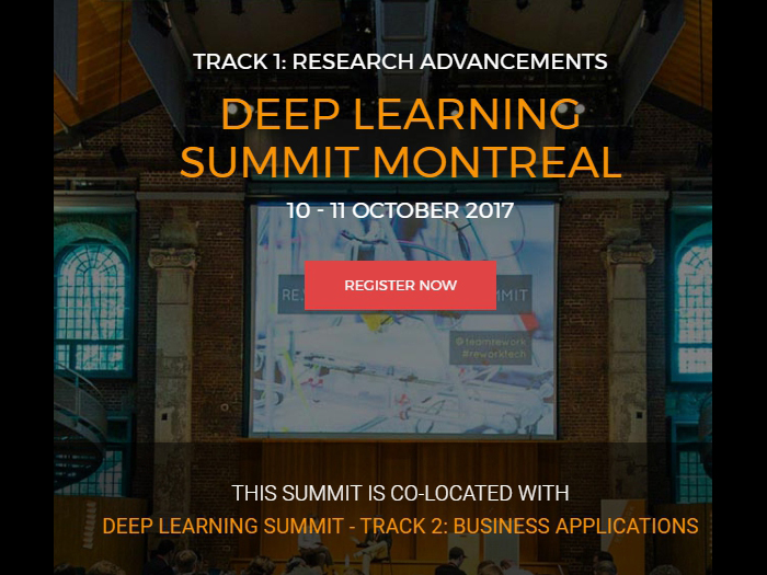 Deep Learning Summit Montreal 2017