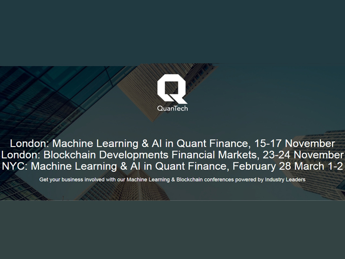 Machine Learning & AI in Quantitative Finance Conference 2017